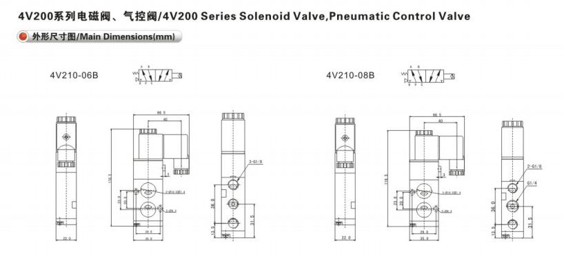 Airtac Type 4v210-06 4v210-08 5 2 Way Solenoid Valve Wiring Diagram on