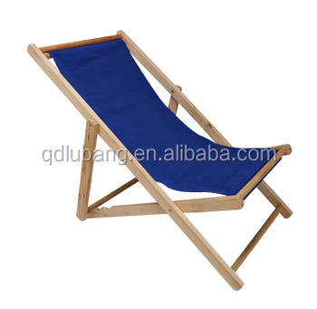 Outdoor Wood And Canvas Sling Chair