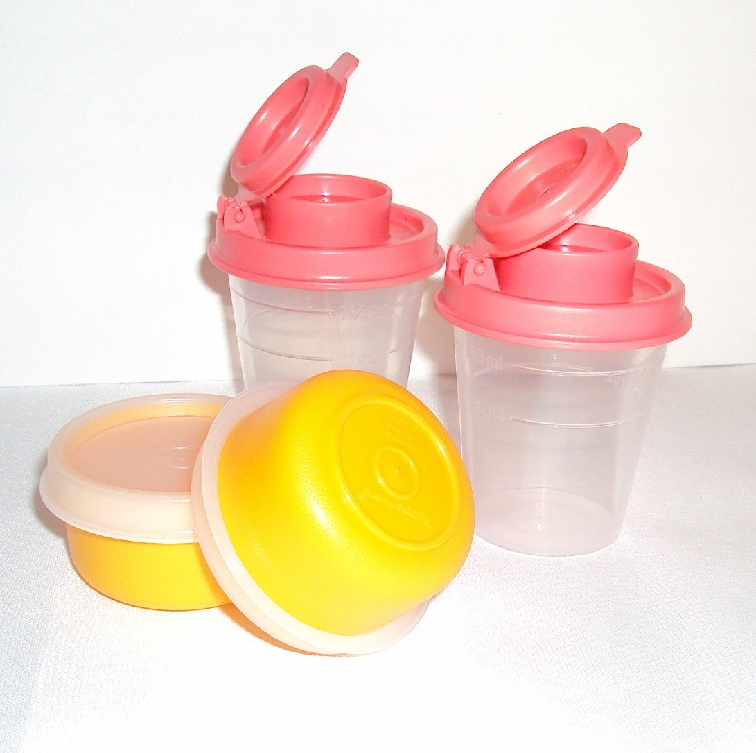 Buy Tupperware Midgets And Smidgets Tiny Bowls Mini Salt And Pepper Shakers Guava And Orange In Cheap Price On Alibaba Com