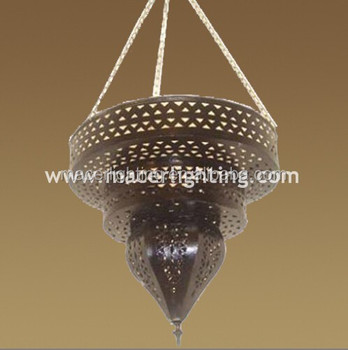 Arabic Antique Brass Pendant Lights For Mosque