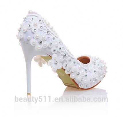 Wedding WS005 Bridal Women Crystal Shoes OvEAnqxSw