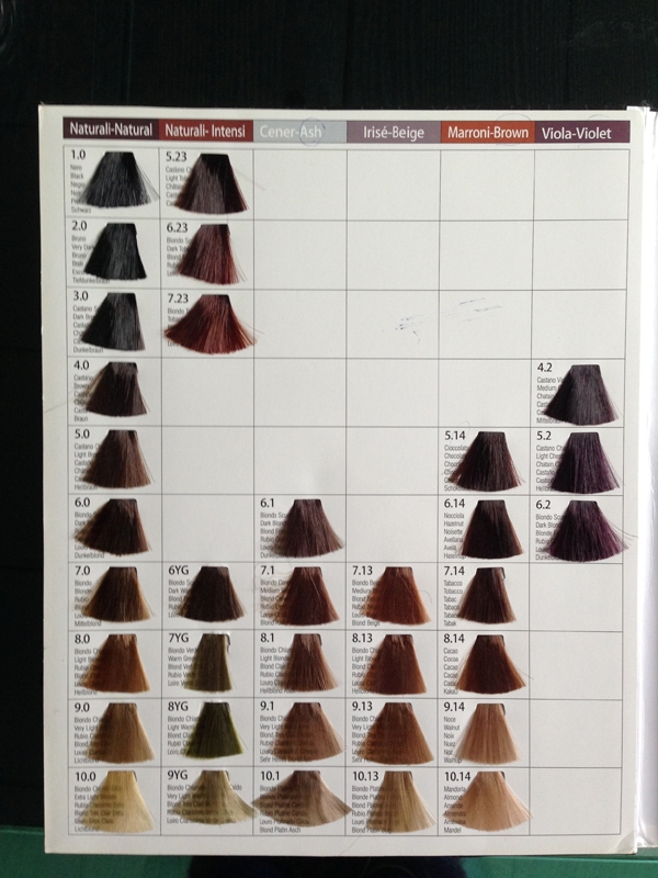 Oem Hair Dye Color Chart Salon Hair Color Chart - Buy Hair Color