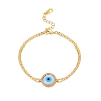Fashion evil eye jewelry 925 sterling silver bracelet