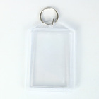 Customized printed plastic clear acrylic photo keychain