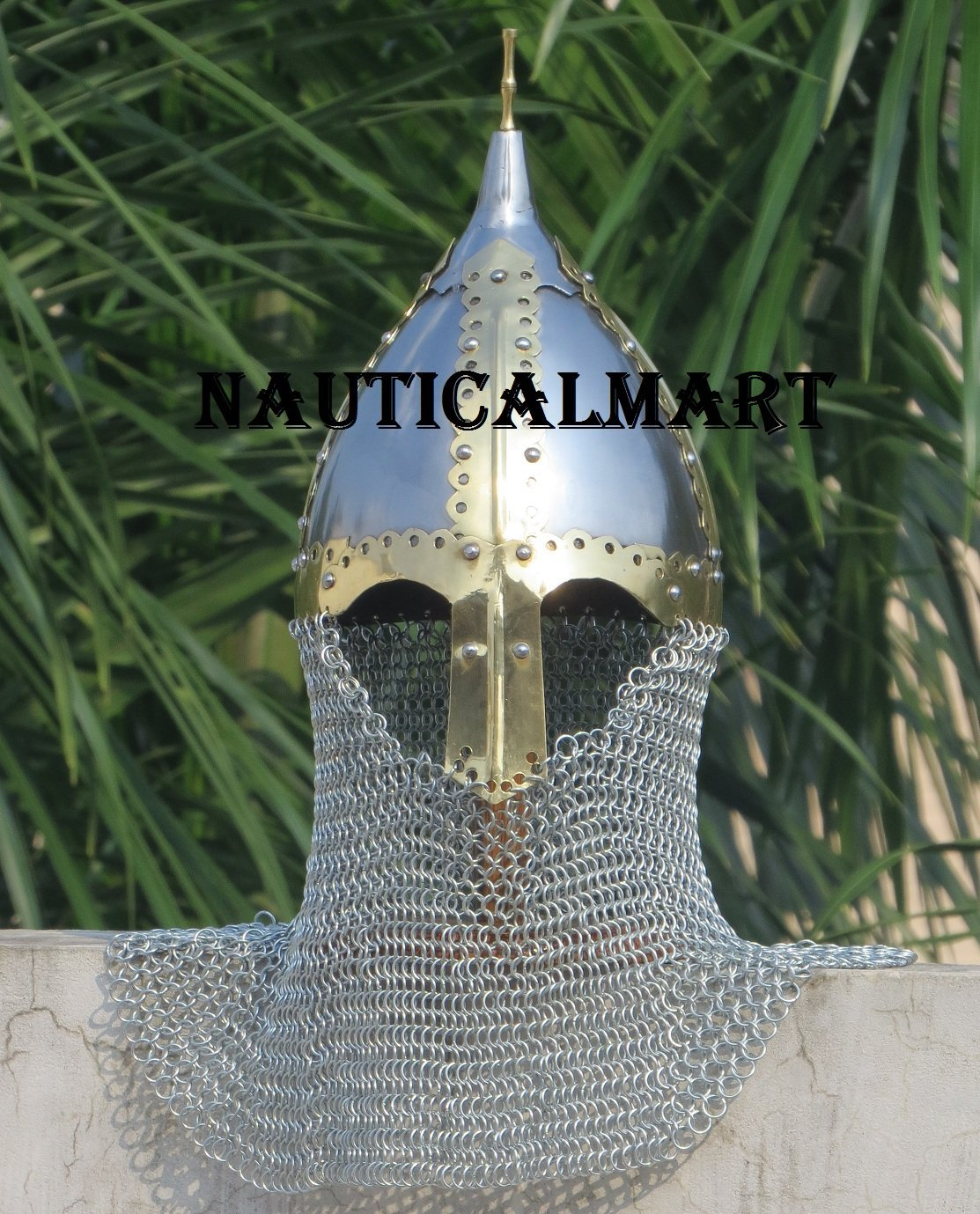 Chest Guards Chainmail Hub MEDIEVAL MONARCH KNIGHT King Richard Lionheart Two Tone CROWN HELMET ARMOR Team Sports