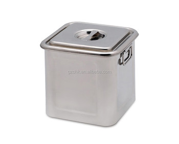 20l Rectangular Stainless Steel Storage Containerss Square Shape