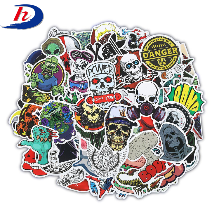 Custom Vinyl Adhesive Transparent Glass Round Logo Label Stickers