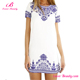 Chinese style porcelain pattern designer ladies short straight dresses