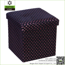 Custom Size Foldable Satin Storage Stool Seat Ottoman