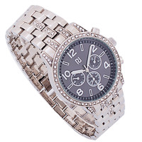 Luxury Silver Stainless Steel Men's Top Quality Diamond Watches