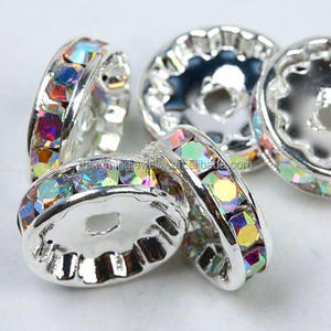 Big Mixed Color Loose crystal rhinestone spacer beads, for Necklace bracelet Jewelry Making