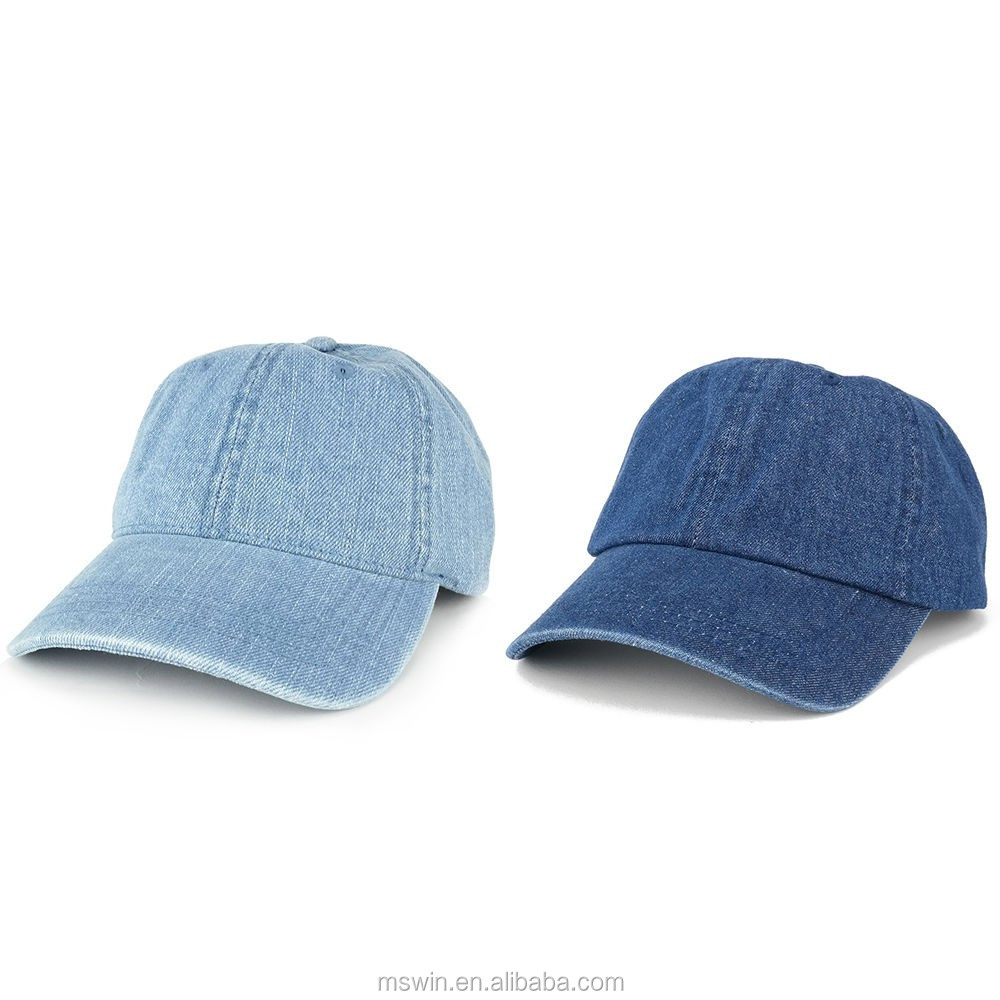 0b539dac9fa Plain Metal Buckle Back Low Profile 6 Panel Dad Hat Denim - Buy ...