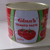 gino canned tomato paste with easy open 22-24% brix 2.2kgs xinjiang