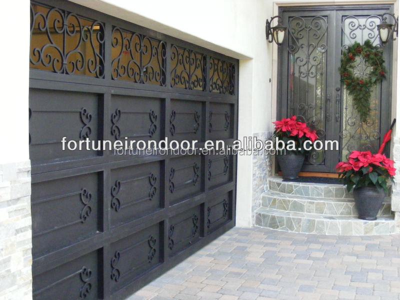 Anti Rust Wrought Iron Garage Door Manufacturer Buy Garage Door