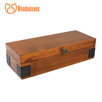 cinnamon rustic wooden watch box, divers watch case