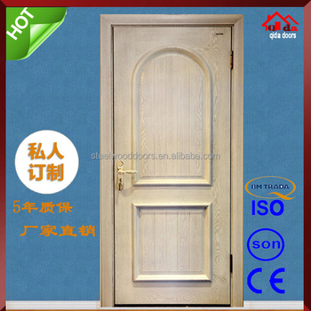 Antique Chinese Swedish Indian Half Moon Gl Wooden Door For Sale - on