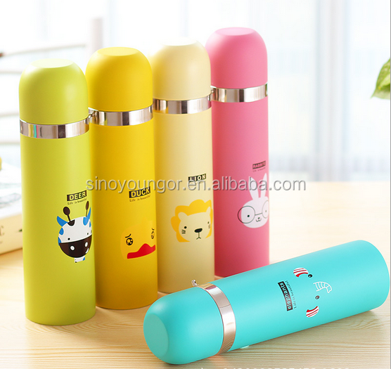 Promotional Branded Portable Vacuum Stainless Steel frosted Vacuum Cup