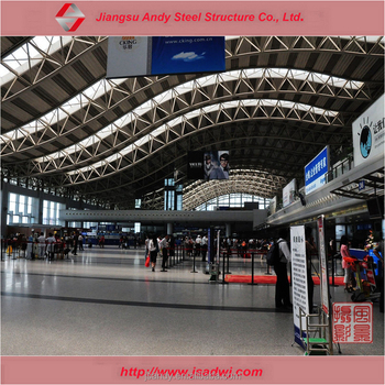 Fast Assembled Large Span Galvanized Steel Flat Roof