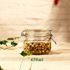 450ml Glass Food candy Storage Container /jar with Stainless Steel Clip Lid