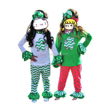 baby clothes St Patrick's Day PINCH PROOF Shamrock legging set baby toddler girl best friends outfit