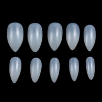 600pcs/bag Full curved Drip shaped artificial fingernails ABS False Acrylic Nail Tips