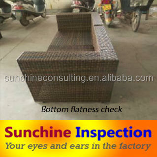 Third part inspection agent for rattan furniture quality inspection/quality check in china with sample inspection report