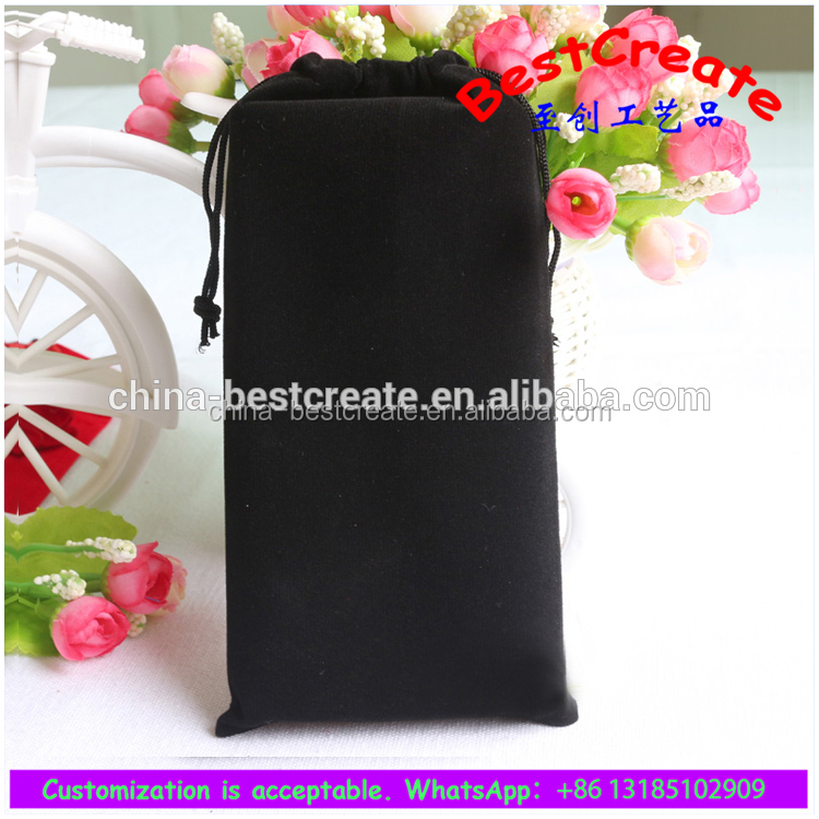 Online wholesale origami velvet drawstring dust pouch bags for folding fan