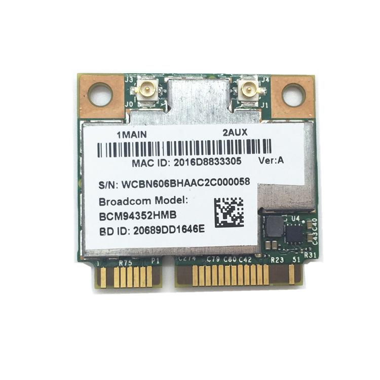 100% Tested Working Laptop Half Mini Pci-e Wlan Bt4 0 Combo Wifi Bluetooth  Module Broadcom Bcm94352 - Buy Broadcom Bcm94352,Half Mini Pci-e Wlan,Half