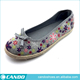 fashion floral canvas ladies summer footwear indian women juti shoes