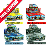 Free Shipping City Series DIY Construction Toy Model Plastic Engineering Fire Fighting Police Military Building Blocks Kid Toys