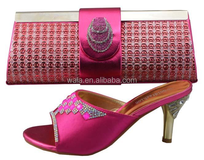 fuchsia italian fashion SB718 match bag design shoes quality high 2014 BwzEC
