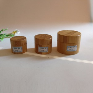 50g,30g Bamboo cream jar and wooden cosmetic jars from Ningbo