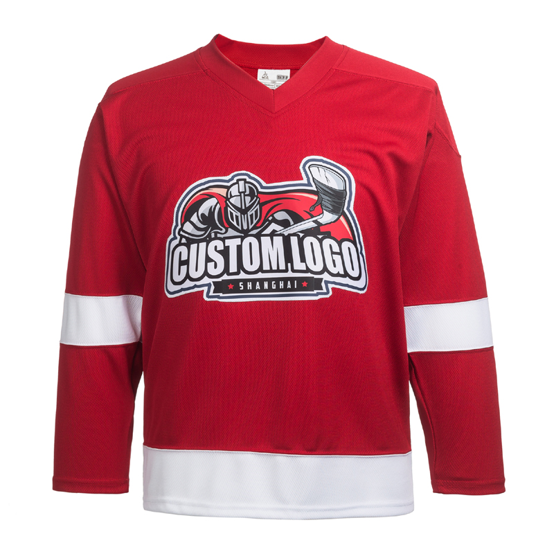 Embroidery Custom Name/Number Red Wings Custom Hockey Jersey
