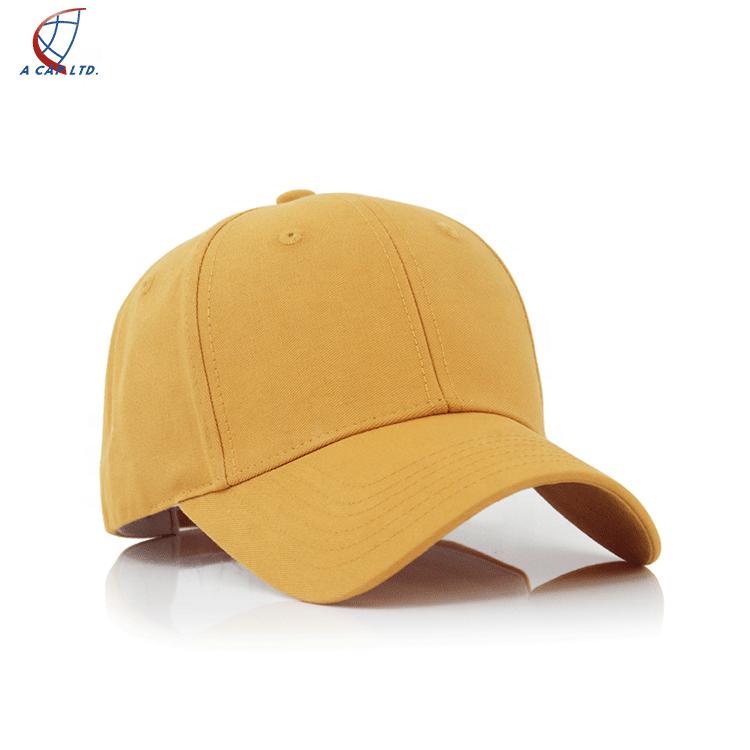 2020 Fashion Washed Cap Yellow Baseball Cap Face Cap