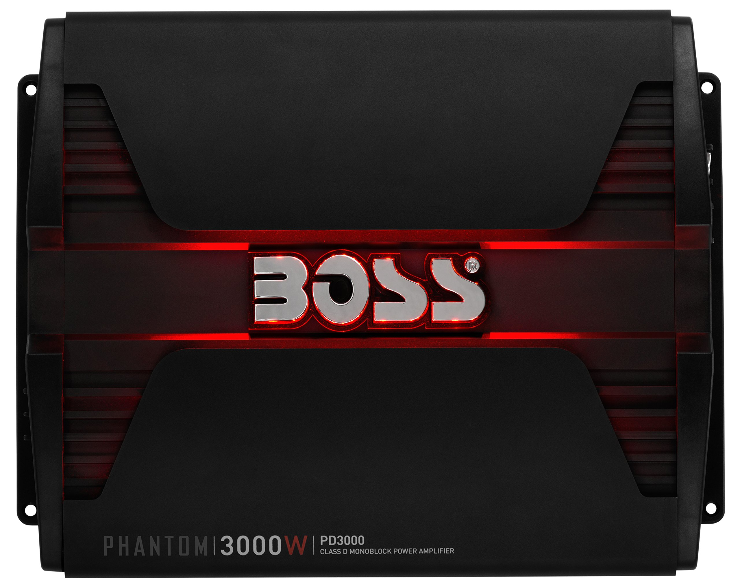 BOSS AUDIO PD3000 Phantom 3000-Watt, 1, 2, 4 Ohm Stable Class D Monoblock Car Amplifier with Remote Subwoofer Control