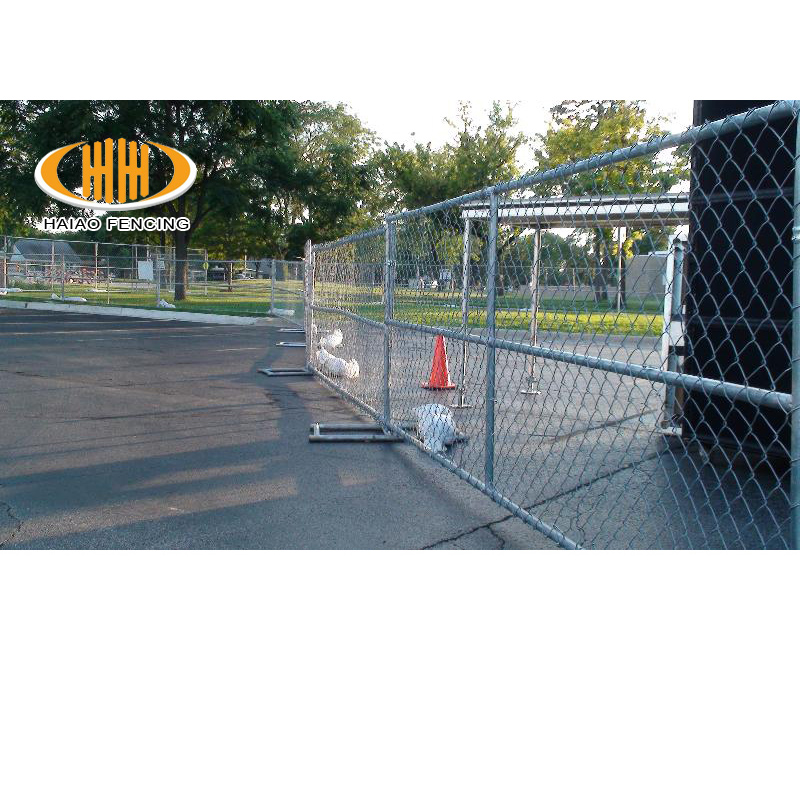 Chain link fence panels 10/'l x 6/'h construction temp fence