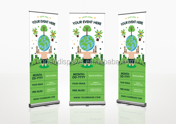 80x200 digitaal printen roll up banner size sliver stap roll up banner stand