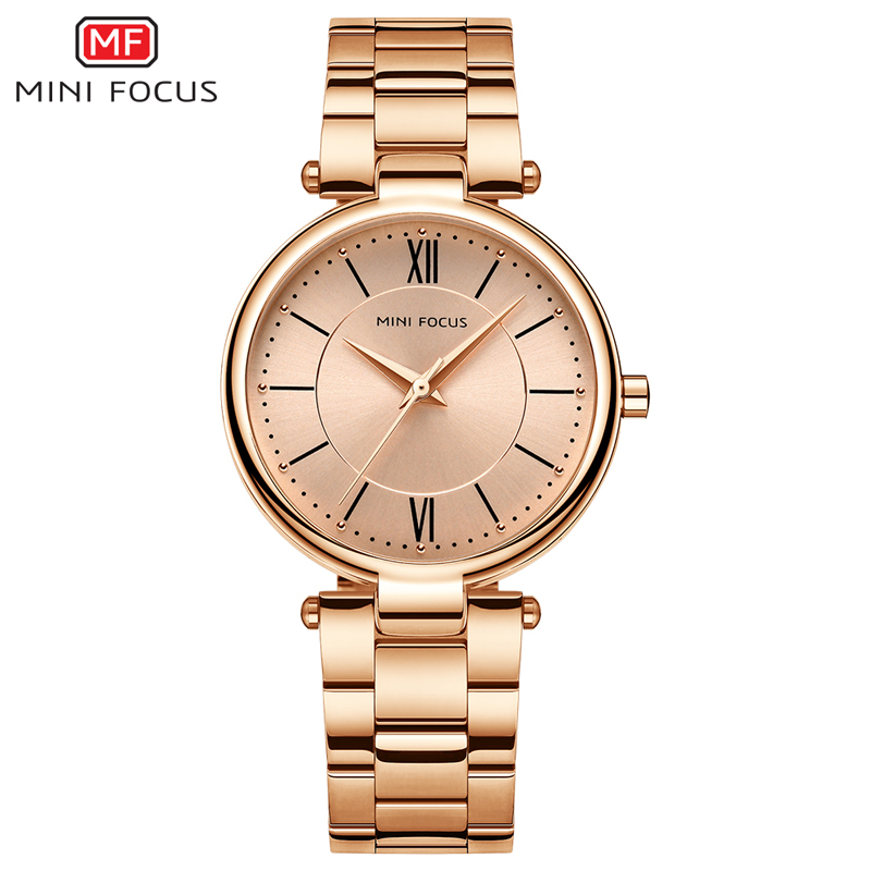 MINI FOCUS MF0189L Lady's Japan Quartz watches Casual Watch Simple Style Stainless Steel Band Watch, 5 colors