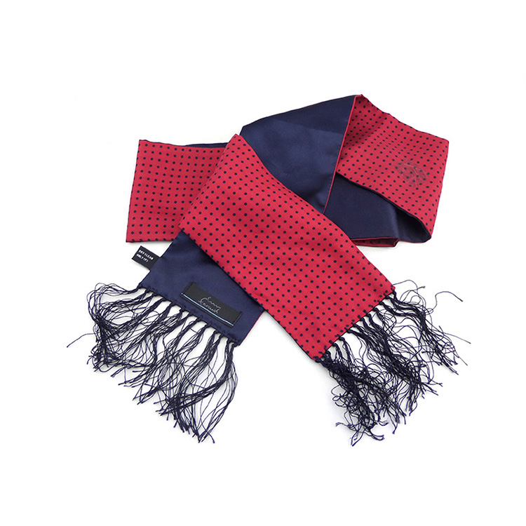 Silk Football Brightly Colored Red Neck Scarves