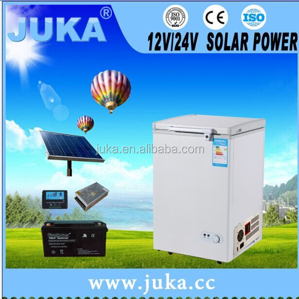2017 hot selling 12 V/ 220-240 V solar freezer ocean freezer