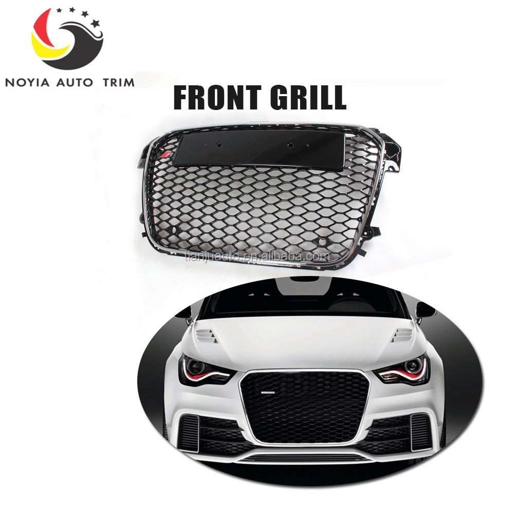 A1 RS1 Car-Styling ABS Black Painted Auto Car Front Grill Grille For Audi A1 & S1 & RS1 Hatchback 2011-2014