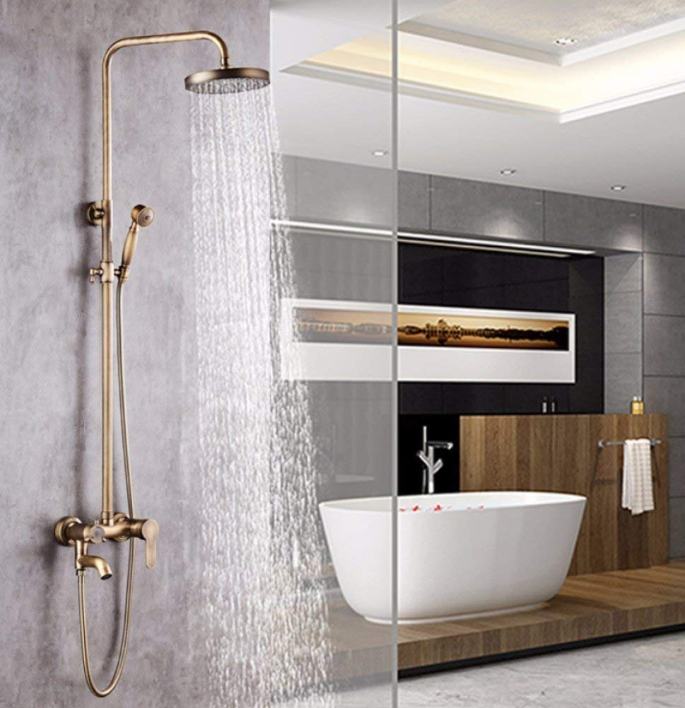 Get Quotations · All In Bronze, Hot Or Cold Rain Shower, Luxurious Bathroom  With Rain Shower Head