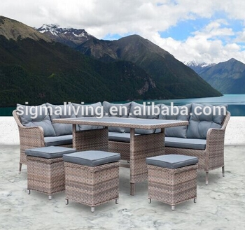 Hot sale all weather lawn furniture outdoor sofa sets clearance modern rattan couches