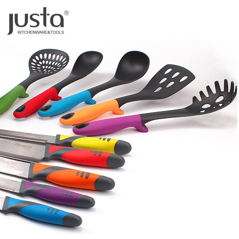 2019 China Top Selling Nylon Kitchen Utensils Sets Cooking Utensils with Holder