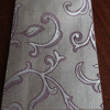 Decorative kitchen curtain design polyester faux linen curtain fabric with jacquard pattern