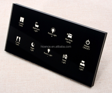 Touch Sensor 10 gang Light Dimmer Curtain Switch 12V Bedside Control Panel