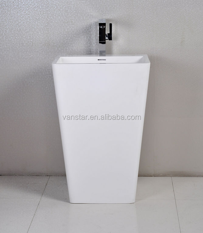 Modern Design Polyester Resin Artificial Stone Wash Basin Pedestal