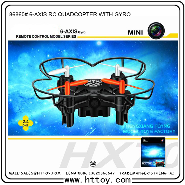 2.4Ghz 6 Axis Gyro RC drone one key go home