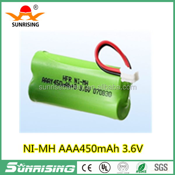 ni-mh rechargeable battery pack aaa 450mah 2.4V for siemens Cordless telephone