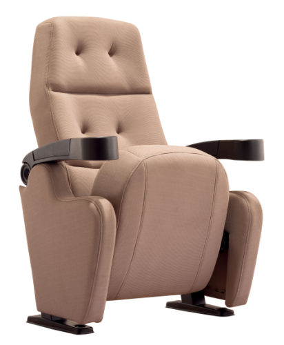 2 seats folding fabric auditorium cinema theater chair W7616